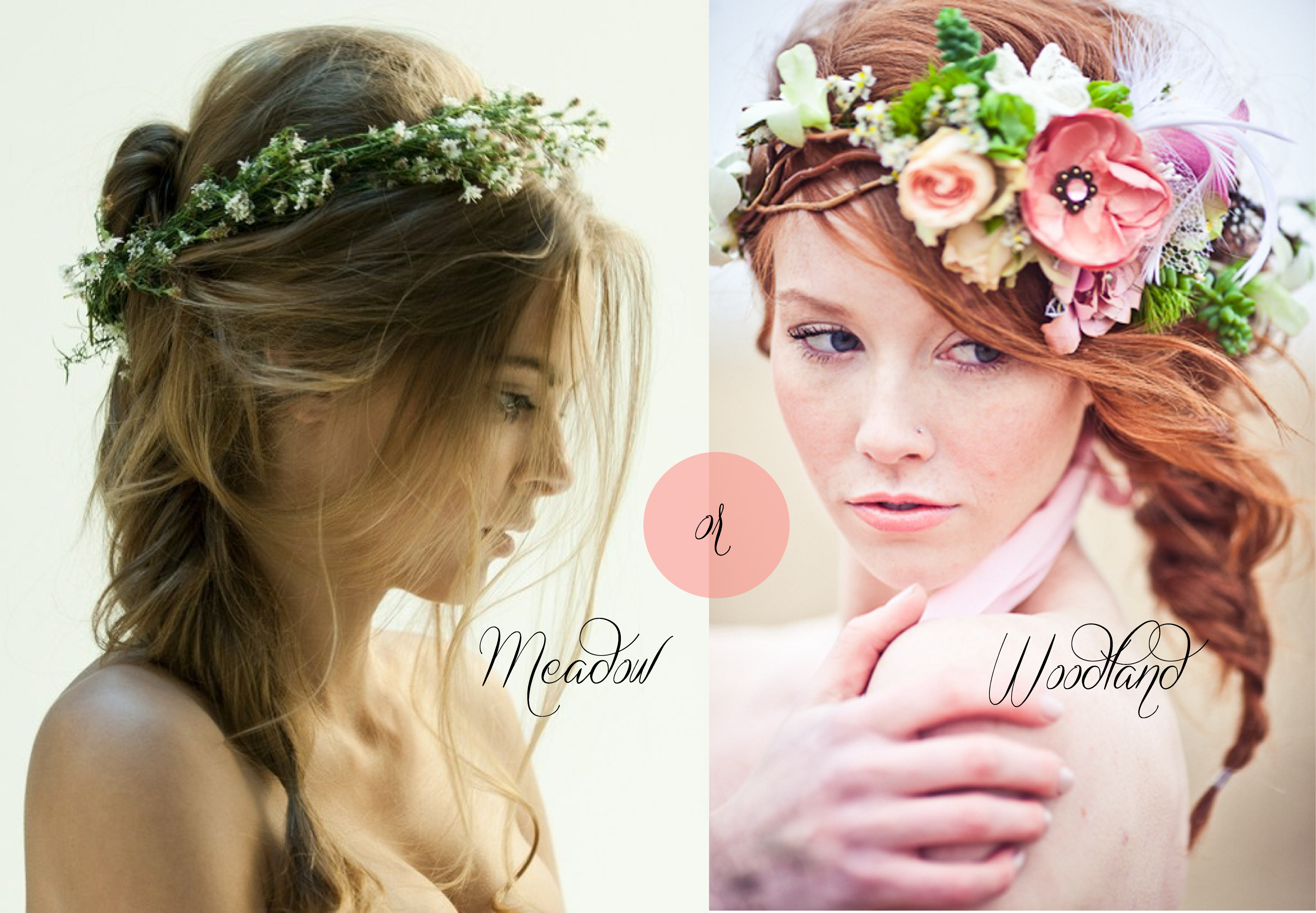 Bridal inspiration floral crowns say yes events floral crown meadow or woodland izmirmasajfo