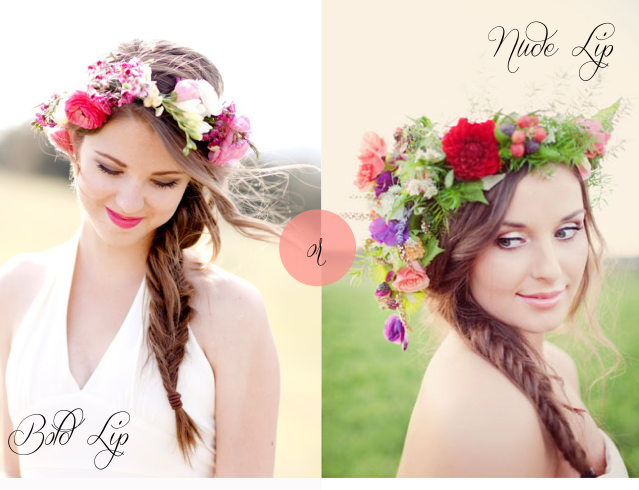 Floral Crown: Wear with a nude lip or a bold lip?