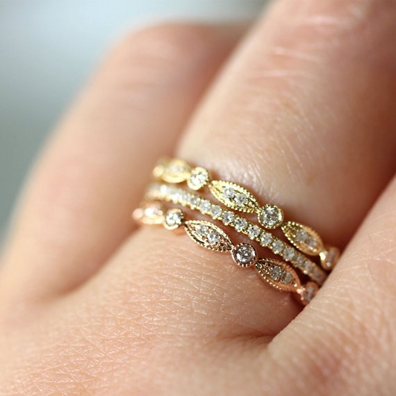 trend stacked wedding ring s say yes events
