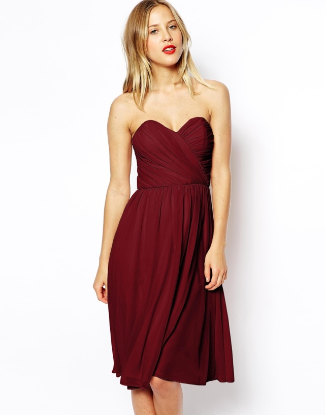 Cranberry Bridesmaid's Dress
